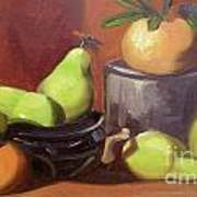 Orange Pears Poster by Lilibeth Andre