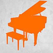 Orange Piano Poster