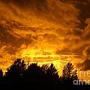 Orange Stormy Skies Poster