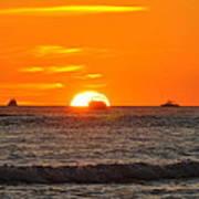 Orange Sunset V Poster