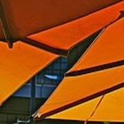 Orange Umbrella Abstract Poster