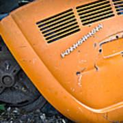 Orange Vw Bug Poster