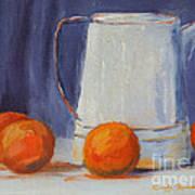 Oranges Still Life Poster