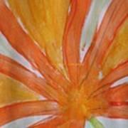 Oranje Bloemblaadje Poster