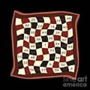 Order Nine Magic Square Puzzle Poster
