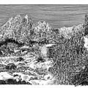 Organ Mountain Wintertime Poster by Jack Pumphrey