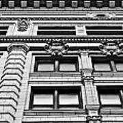 Ornate Building - Black And White Poster