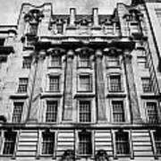 Ornate Facade Of 124 St Vincent Street Refurbished Into Modern Office Space Glasgow Scotland Uk Poster