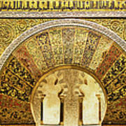 Ornate Mezquita Mihrab In Cordoba Poster