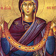 Orthodox Icon Virgin Mary Poster