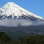 Osorno Volcano Ringed By Clouds Poster