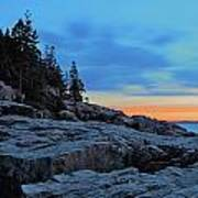 Otter Point At Dawn Poster