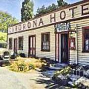 out front Cardrona Hotel Poster