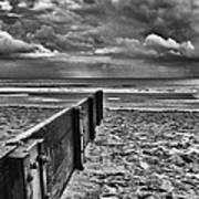 Out To Sea Monochrome Poster