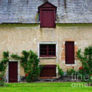 Outbuildings Of Chateau Cheverny Poster by Louise Heusinkveld