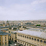Looking Over Paris Poster