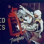 Overall View Of Astronaut John Glenn Poster by Everett