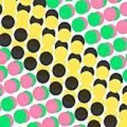 Overlayed Dots Poster by Louisa Knight