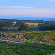 Overlook Of The Gettysburg Battlefield Poster