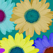 Oversize Daisies Poster