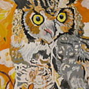 Owl In The Fall Poster