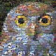 Owl Mosaic Poster