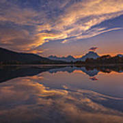 Ox Bow Bend Sunset Poster by Joseph Rossbach