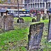 Oxford England Graveyard Poster