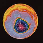 Ozone Hole Over Antarctica Poster