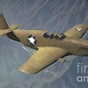 P 51 Mustang On A Mission Poster