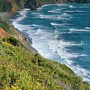Pacific Coast Shoreline I Poster by Steven Ainsworth