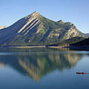 Sunrise Paddle In Peace - Kananaskis, Alberta Poster