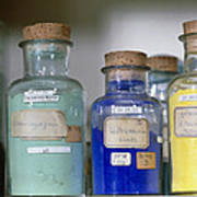 Paint Pigment Samples Used In Forgery Detection Poster