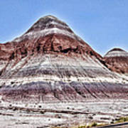 Painted Desert Mounds Poster