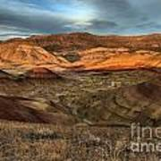 Painted Hills In The Fossil Beds Poster
