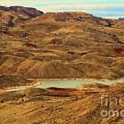 Painted Hills Lake Poster