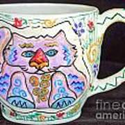 Painted Kitty Mug Poster by Joyce Jackson
