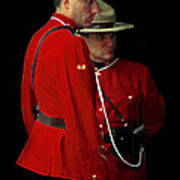 Painted Mounties Poster