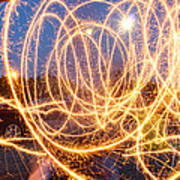Painting With Sparklers Poster by Gordon Dean II