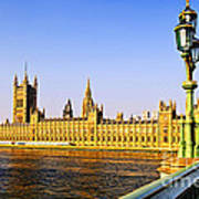 Palace Of Westminster From Bridge Poster