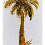 South Carolina Palm Tree Poster
