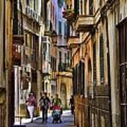 Palma Mallorca Street Scene Poster