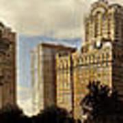 Panorama Of Manhattan Downtown  Poster