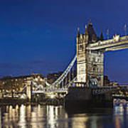 Panorama Of Tower Bridge And Tower Of London Poster
