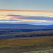 Panoramic At Sunset Along The Dempster Poster