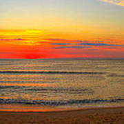 Panoramic Beach Sunrise Outer Banks Art Print By Randy Steele
