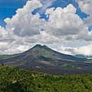 Panoramic View Of A Volcano Mountain  Poster
