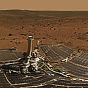 Panoramic View Of Mars Poster