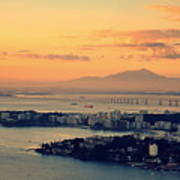 Panoramic View Of Niteroi Poster