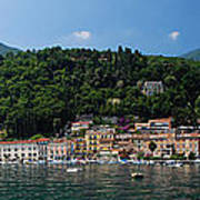 Panoramic View Of Toscolano-maderno Poster